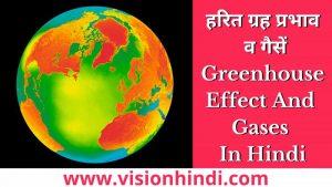 हरित ग्रह प्रभाव व गैसें Greenhouse Effect And Gases In Hindi