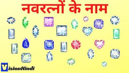 Navratna Stones Names In Hindi